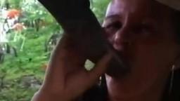 Нагая шлюха отсасывает стоячий жеребцовый хуй зоопорно видео